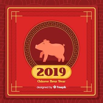 Priorità bassa cinese di nuovo anno 2019