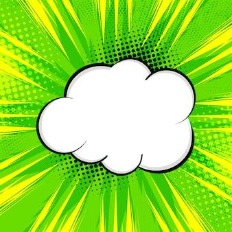 Priorità bassa comica verde intenso astratta