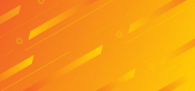 Priorità bassa con il disegno di tema giallo arancione di figure astratte