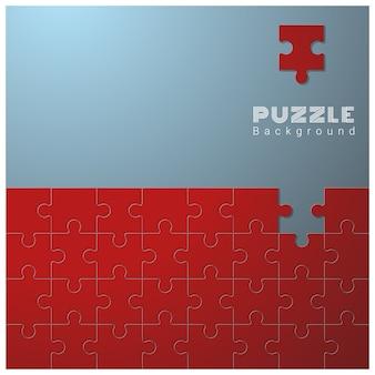 Priorità bassa concettuale astratta con il puzzle incompleto