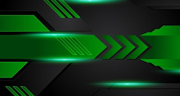 Priorità bassa corporativa astratta geometrica verde e nera. vettore.