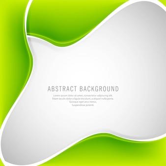Priorità bassa creativa ondulata verde astratta di vettore