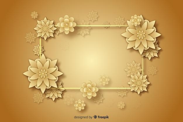 Priorità bassa decorativa dei fiori dorati 3d