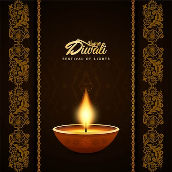 Priorità bassa decorativa di diwali felice religiosa astratta