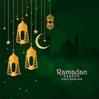 Priorità bassa decorativa di festival astratto di eid mubarak