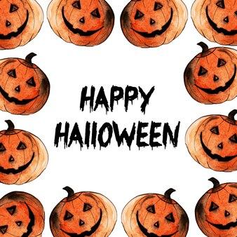 Priorità bassa degli elementi di halloween dell'acquerello