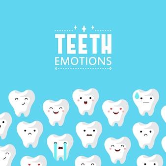 Priorità bassa dei denti della clinica dentale.