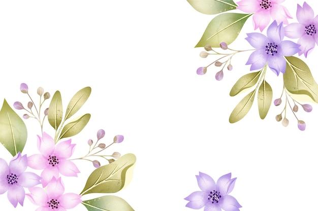 Priorità bassa dei fiori dell'acquerello di colori pastelli