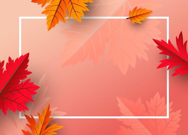 Priorità bassa dei fogli di autunno con lo spazio della copia