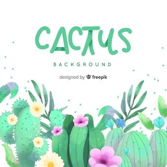 Priorità bassa del cactus dell'acquerello