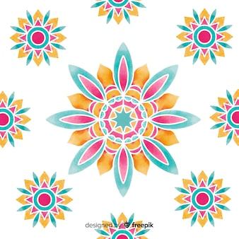 Priorità bassa del fiore ornamentale dell'acquerello