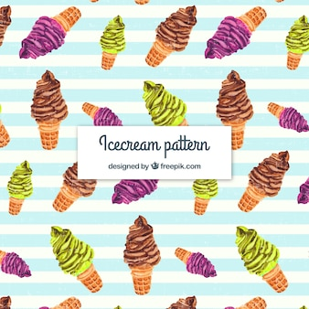 Priorità bassa del gelato di acquerello