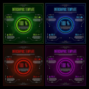 Priorità bassa del modello di infographics multicolore futuristico