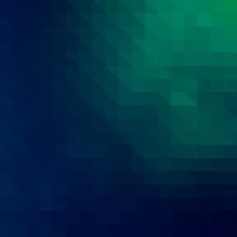Priorità bassa del mosaico di triangoli verde scuro vettore blu
