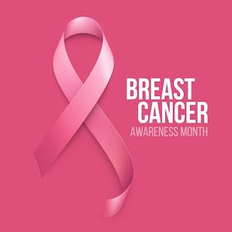 Priorità bassa del nastro di consapevolezza del cancro al seno.