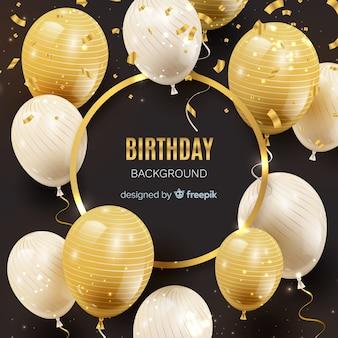 Priorità bassa del palloncino di compleanno realistico