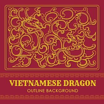 Priorità bassa del profilo del drago vietnamita