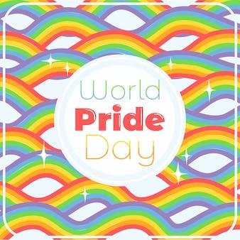 Priorità bassa del rainbow di giorno di orgoglio del mondo