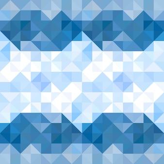Priorità bassa del reticolo astratto triangoli. acqua e cielo sfondo geometrico. illustrazione vettoriale