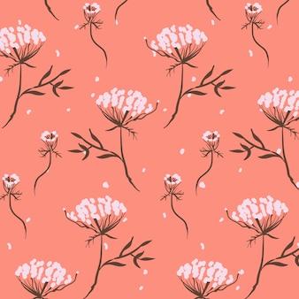 Priorità bassa del reticolo di fiore disegnato a mano