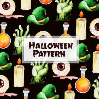 Priorità bassa del reticolo di halloween dell'acquerello