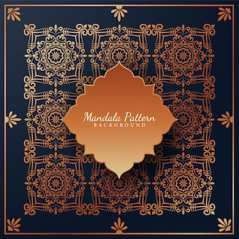 Priorità bassa del reticolo di mandala di lusso con ornamenti arabeschi dorati stile orientale islamico arabo
