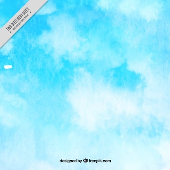 Priorità bassa dell'acquerello con nuvole bianche