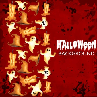 Priorità bassa dell'acquerello di halloween