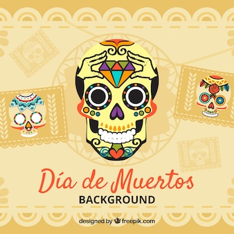 Priorità bassa dell'annata dei crani dei giorni morti messicani