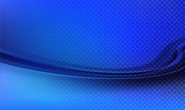 Priorità bassa dell'onda blu di tecnologia astratta