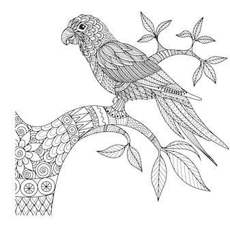 Priorità bassa dell'uccello disegnato a mano
