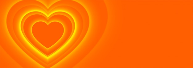 Priorità bassa della bandiera di cuori arancioni