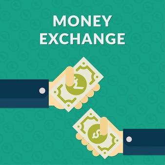 Priorità bassa della bandiera di scambio di soldi