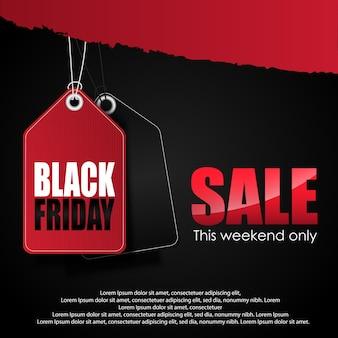 Priorità bassa della bandiera di vendita venerdì nero