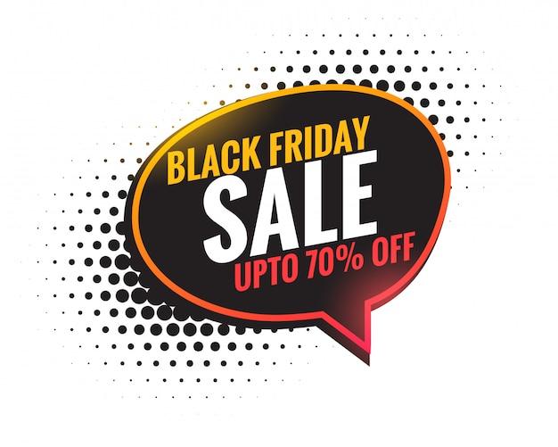 Priorità bassa della bolla di chat di vendita venerdì nero