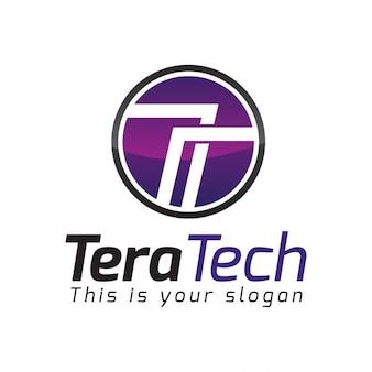 Priorità bassa della lettera circolare t logo