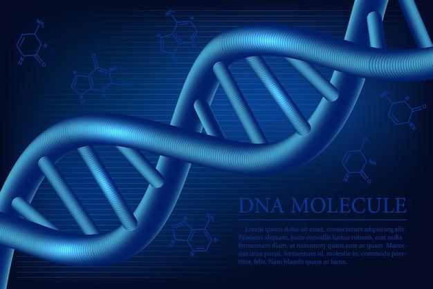 Priorità bassa della molecola di dna. illustrazione medica scientifica.