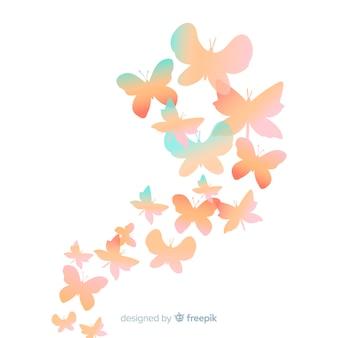 Priorità bassa della siluetta della farfalla