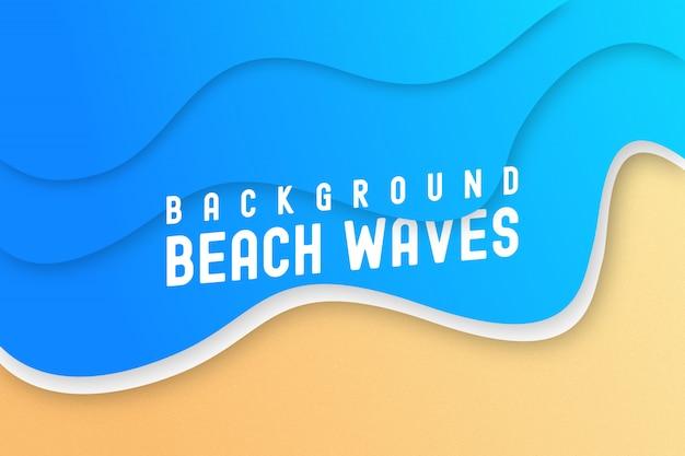 Priorità bassa delle onde di spiaggia