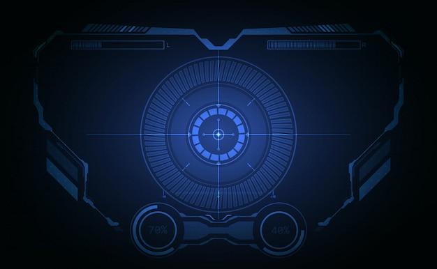 Priorità bassa dello schermo grafico del sistema aeronautico dell'interfaccia di hud
