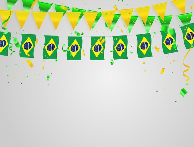 Priorità bassa di celebrazione di bandiere del brasile