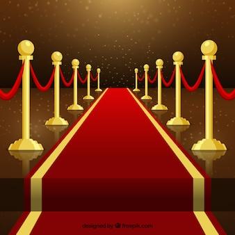 Priorità bassa di cerimonia del tappeto rosso in stile piano