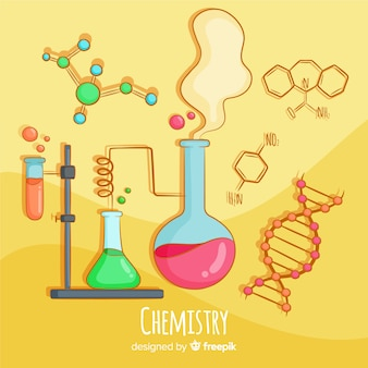 Priorità bassa di chimica disegnata a mano