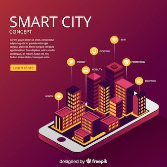 Priorità bassa di concetto di città intelligente