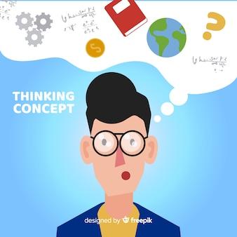 Priorità bassa di concetto di pensiero desing piano