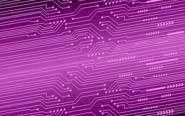 Priorità bassa di concetto di tecnologia del futuro circuito cyber viola