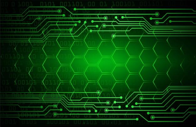Priorità bassa di concetto di tecnologia futura del circuito cyber verde