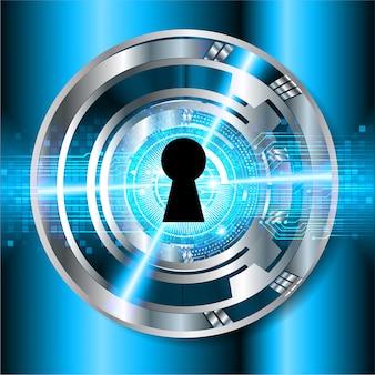 Priorità bassa di concetto di tecnologia futura del circuito cyber