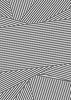 Priorità bassa di disegno a strisce astratta in bianco e nero