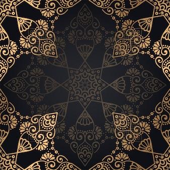 Priorità bassa di disegno di lusso ornamentale mandala